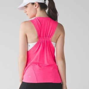 LULULEMON- In A Cinch Tank Heathered Neon Pink